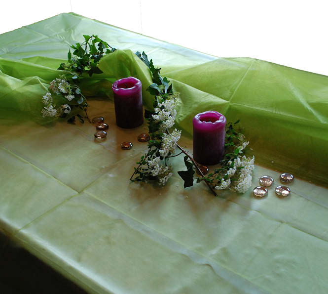 Organza als Tischdecke oder für die Tischdeko